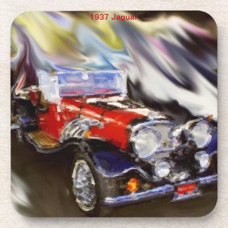 1937 Jaguar Drink Coasters
