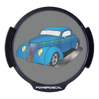 1937 Minotti Ford Coupe - Blue LED Car Window Decal