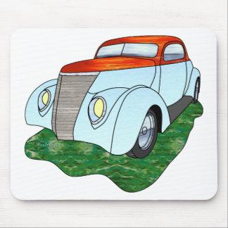 1937 Minotti Ford Coupe - Orange/Lt. Blue Mouse Pad