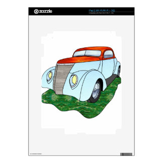1937 Minotti Ford Coupe - Orange/Lt. Blue Skins For The iPad 2