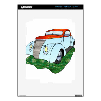 1937 Minotti Ford Coupe - Orange/Lt. Blue Skins For iPad 3