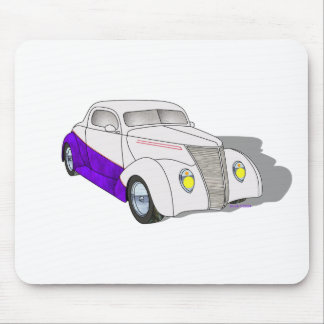 1937 Minotti Ford Coupe - Pearl/Purple Mouse Pad