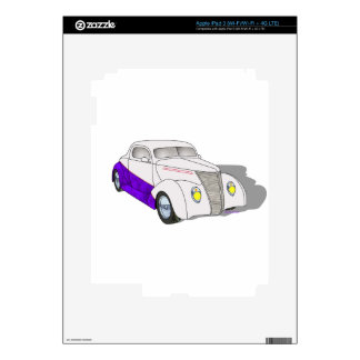 1937 Minotti Ford Coupe - Pearl/Purple Decals For iPad 3