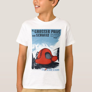 1937 Switzerland Grand Prix Racing Poster T-Shirt