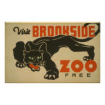 1937 Visit Brookside Zoo WPA Poster