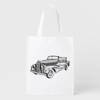 1938 Cadillac Lasalle Convertible Illustration Market Tote