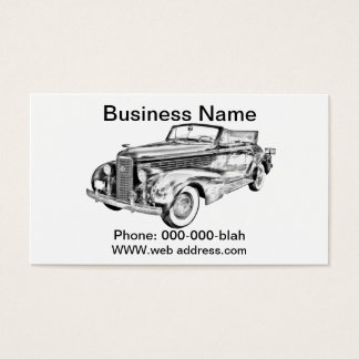 1938 Cadillac Lasalle Illustration Business Card