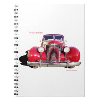 """1938 Cadillac """"red"""" Spiral Notebooks"""