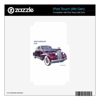 1938 CADILLAC V-16 DECAL FOR iPod TOUCH 4G
