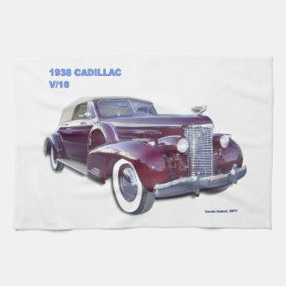 1938 CADILLAC V-16 KITCHEN TOWELS