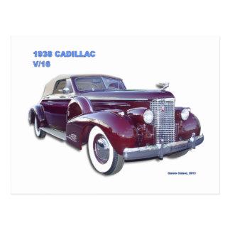 1938 CADILLAC V-16 POST CARD