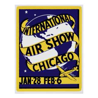 1938 Chicago International Air Show Poster
