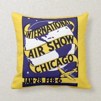 1938 Chicago International Air Show Throw Pillow