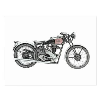 1938 Excelsior Warrior Motorcycle Postcard