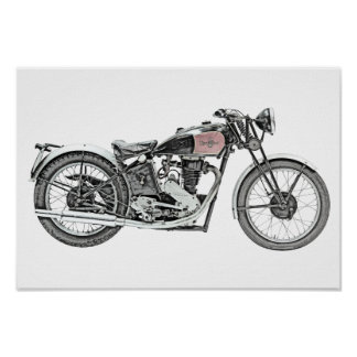 1938 Excelsior Warrior Motorcycle Poster