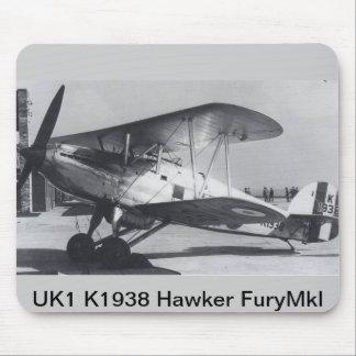 1938 Hawker Fury MkI Mouse Pad