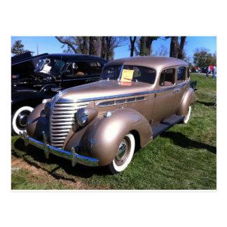 1938_Hudson_six_sedan_ Postcard
