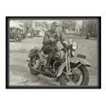 1938 Tennessee Highway Patrol Harley Davidson Postcard