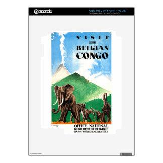 1939 Belgian Congo Elephants Travel Poster iPad 3 Skin