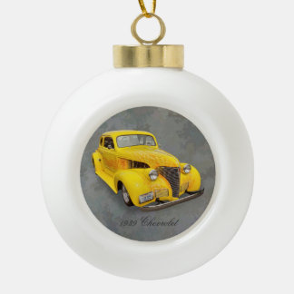 1939 CHEVROLET CERAMIC BALL CHRISTMAS ORNAMENT