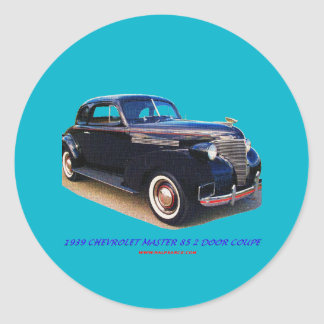 1939 CHEVROLET MASTER 85 2 DOOR COUPE CLASSIC ROUND STICKER