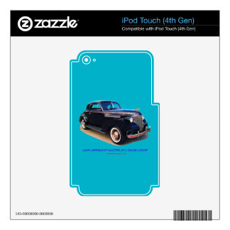 1939 CHEVROLET MASTER 85 2 DOOR COUPE DECALS FOR iPod TOUCH 4G