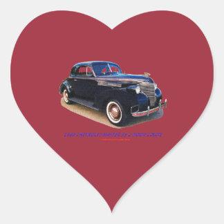 1939 CHEVROLET MASTER 85 2 DOOR COUPE HEART STICKER
