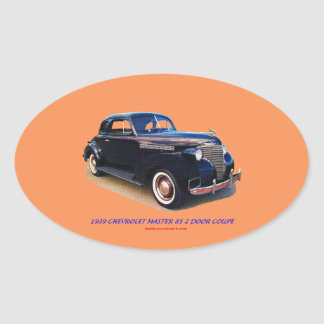 1939 CHEVROLET MASTER 85 2 DOOR COUPE OVAL STICKER