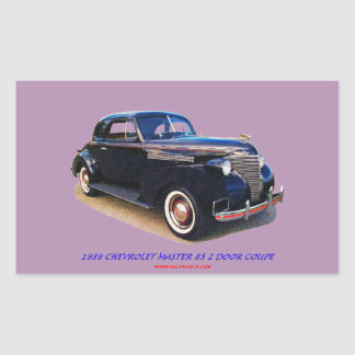 1939 CHEVROLET MASTER 85 2 DOOR COUPE RECTANGULAR STICKER