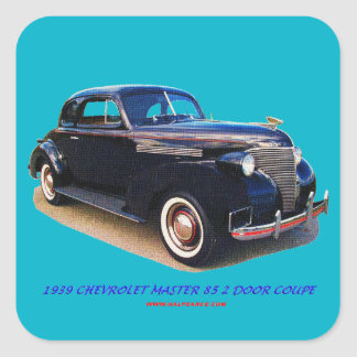 1939 CHEVROLET MASTER 85 2 DOOR COUPE SQUARE STICKER