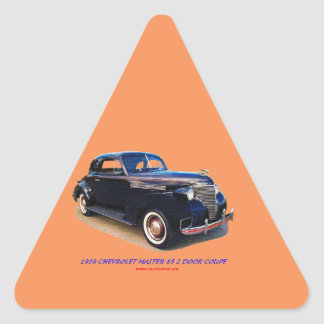 1939 CHEVROLET MASTER 85 2 DOOR COUPE TRIANGLE STICKER