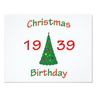 1939 Christmas Birthday Card