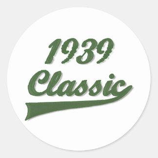 1939 Classic Classic Round Sticker