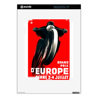 1939 European Grand Prix Motorcycle Racing Poster Decal For The iPad 2