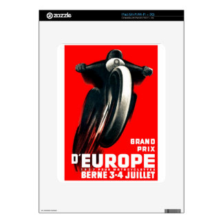 1939 European Grand Prix Motorcycle Racing Poster Skins For iPad