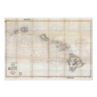 1939 Japanese Map of Hawaii Pearl Harbor Card