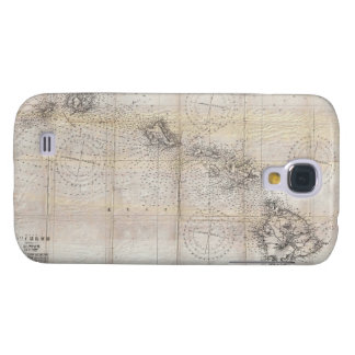 1939 Japanese Map of Hawaii Pearl Harbor Galaxy S4 Cases