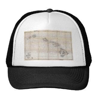 1939 Japanese Map of Hawaii Pearl Harbor Trucker Hats