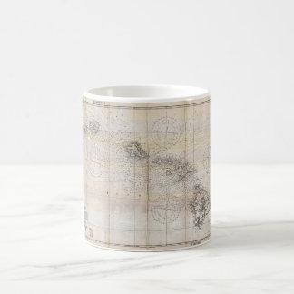 1939 Japanese Map of Hawaii Pearl Harbor Coffee Mug