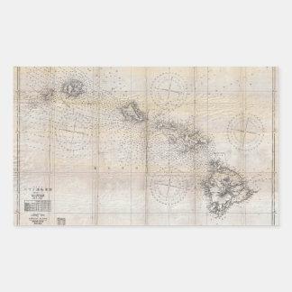 1939 Japanese Map of Hawaii Pearl Harbor Rectangular Sticker