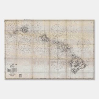 1939 Japanese Map of Hawaii Pearl Harbor Sign