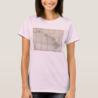 1939 Japanese Map of Hawaii Pearl Harbor T-Shirt