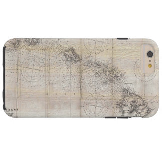 1939 Japanese Map of Hawaii Pearl Harbor Tough iPhone 6 Plus Case