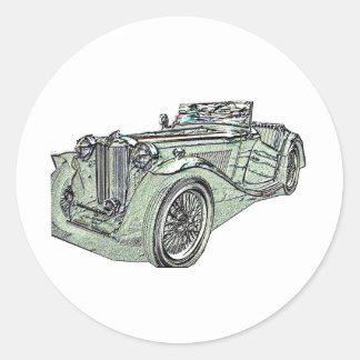 1939 MGgrn Classic Round Sticker