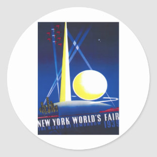 1939 New York World Fair Classic Round Sticker