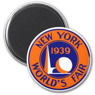 1939 New York World's Fair 2 Inch Round Magnet