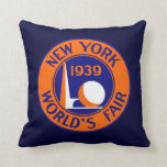 1939 New York World's Fair Throw Pillow at Zazzle