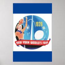 1939 New York's World's Fair Vintage Travel Poster