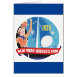 1939 New York's World's Fair Vintage Travel Poster Card
