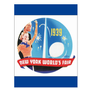 1939 New York's World's Fair Vintage Travel Poster Postcard